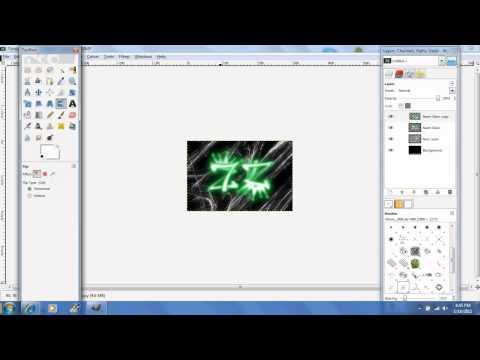 How to make MLG/GB logos using GIMP 2.6