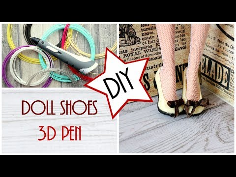 Cute Doll Shoes with a 3d pen for Monster High, EAH, Barbie dolls / DIY Craft Tutorial / Easy