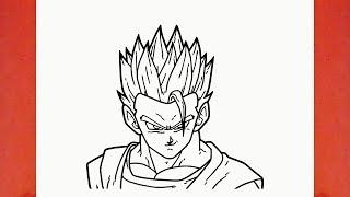 Comment Dessiner Vegeta Facilement Dragon Ball Z