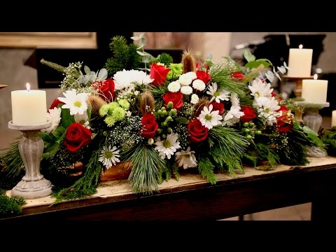 Christmas Eve Service Flower Arrangement // Garden Answer