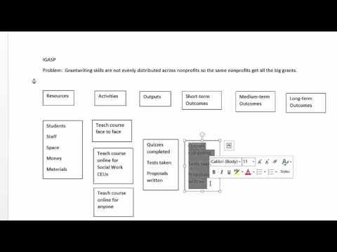 Creating a Logic Model in Microsoft Word