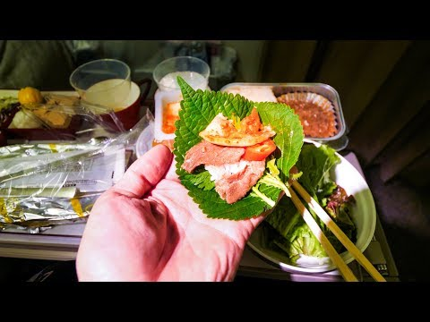 Asiana Airlines FOOD REVIEW - Flying from Bangkok to Incheon to Honolulu - Korean Food!