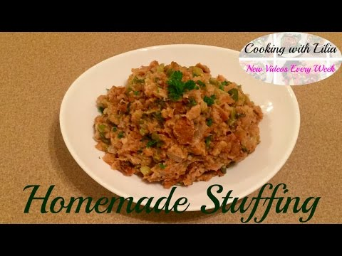 Thanksgiving Stuffing Recipe - Classic Stuffing Recipe - Bread Stuffing Recipe