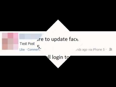 Update your Facebook status via iPhone 5..Must Try!!