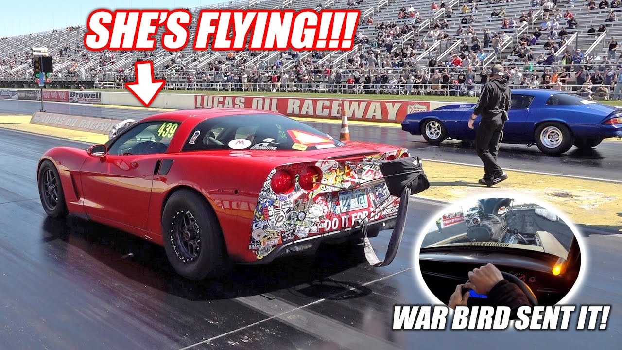 Ruby Takes On KSR's 94mm Turbo Camaro!!! + War Bird DESTROYS Our Indy Burnout Pad!!!