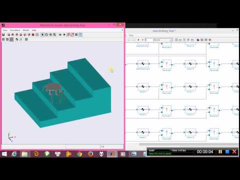 Spider Robot Climbing Stair Simulink Simulation