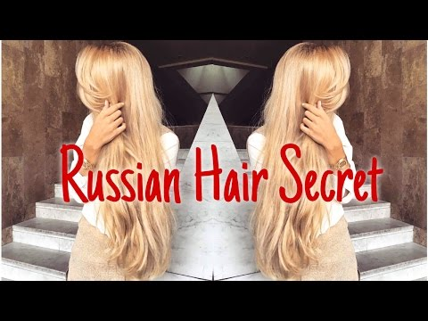 HOW TO GROW LONG HAIR FASTER - Russian hair secret #1
