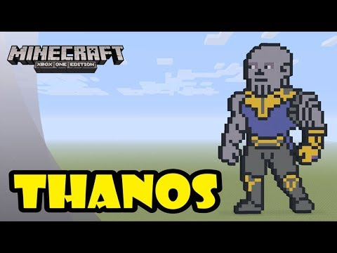 Minecraft: Pixel Art Tutorial and Showcase: Thanos (Avengers: Infinity War)