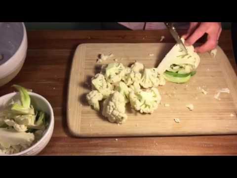 An easy way to cut cauliflower