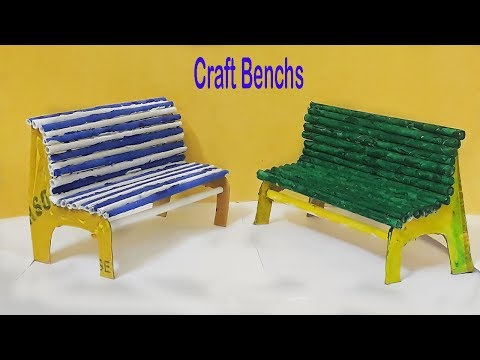 DIY | How to Make Benches with  Paper | Siri Art & Craft