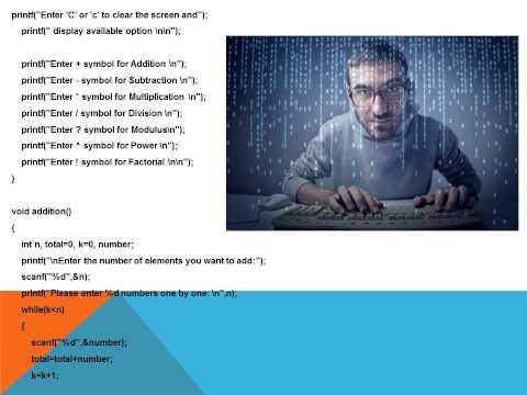 PPT on Calculator in C language