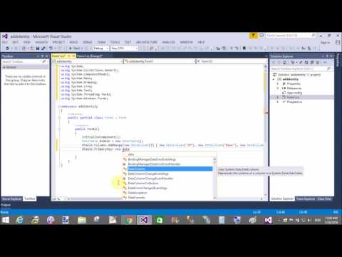 Set Primary key column to data table in C# Windows Form
