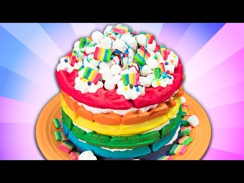 How to Make Rainbow Waffles from Cookies Cupcakes and Cardio