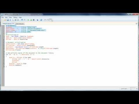PowerShell one-liner to populate a SharePoint 2010 document library video