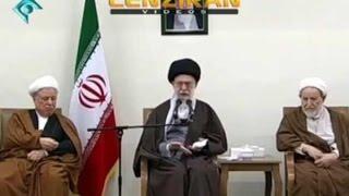 Sarcastic speech of Ayatollah khamenei for Khobregan , Rafsanjani and Hassan Rouhani