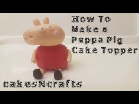 How to make a Peppa Pig cake topper