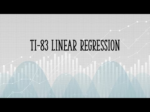 TI83 Linear Regression