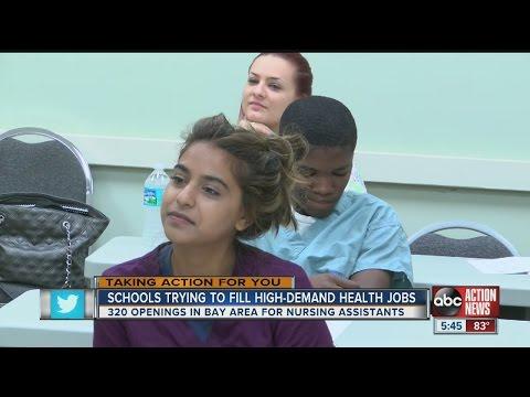 Huge demand for certified nursing assistants in Tampa Bay
