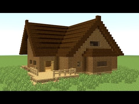 MINECRAFT: How to build big wooden house #4