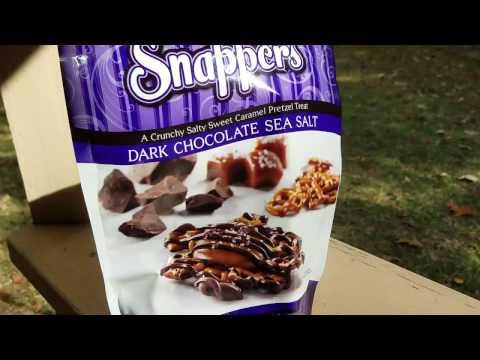 Snappers Dark Chocolate Pretzel Caramel Sea Salt Goodness