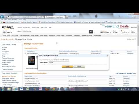 Kindle Fire HD   How to Change the User Name​​​ | H2TechVideos​​​