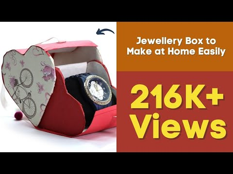 Awesome DIY Cardboard Gift, Jewellery Box to Make at Home Easily with Waste Material