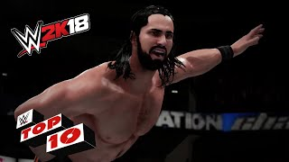 Ridiculous Elimination Chamber Dives!: WWE 2K18 Top 10
