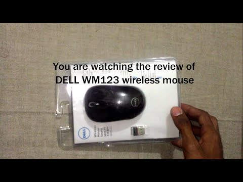DELL WM123 wireless mouse unboxing and review