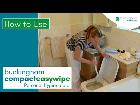 Compact Easywipe Toilet Tissue Wiping Aid Demonstration