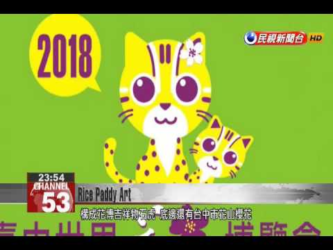 Taichung prepares rice paddy art for 2018 World Flora Exposition
