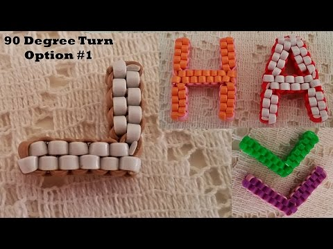 Tutorial for 90 Degree Turn - Lanyard Box Stitch, Option #1