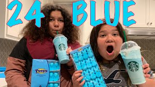 Download 24 HOURS EATING ONLY BLUE FOOD CHALLENGE Video