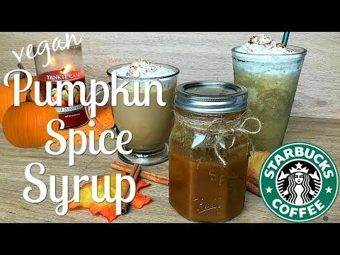 Vegan Pumpkin Spice syrup   Starbucks copycat (Happy Birthday Sis!!)
