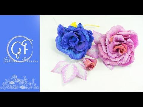 DIY   EVA FOAM (foamiran)  Flowers for Millinery