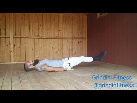 Lying leg raise and pulse-up