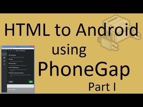 How to convert html to android using Phonegap (part 1) | phonegap tutorial