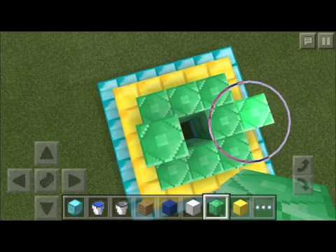Minecraft PE-MAKING A BEACON!! (Make shift)