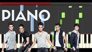 CNCO Mamita Piano Midi tutorial Sheet app Cover Karaoke