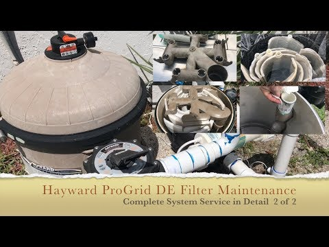Hayward Pro Grid DE Filter Cleaning - Complete Process - 2 of 2