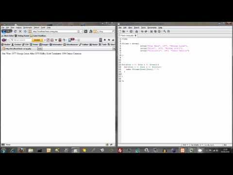 Outputting Data from PHP Arrays Using For Loops
