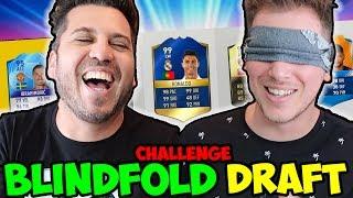 BLINDFOLD FUT DRAFT CHALLENGE w BrazoCrew - FIFA 17 Ultimate Team