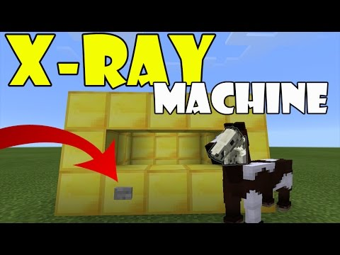 X-Ray Machine in Minecraft PE !!! No Mods, No Addons   MCPE Command Block Trick