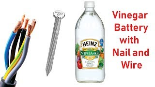 Generate Electricity From Vinegar At Home - Cool Science Experiment