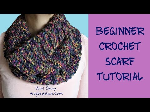 DIY Tutorial   How to crochet a circle scarf