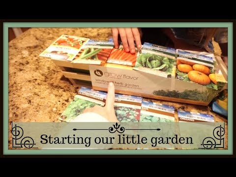 Starting our little garden (March 16, 2018) Vlog