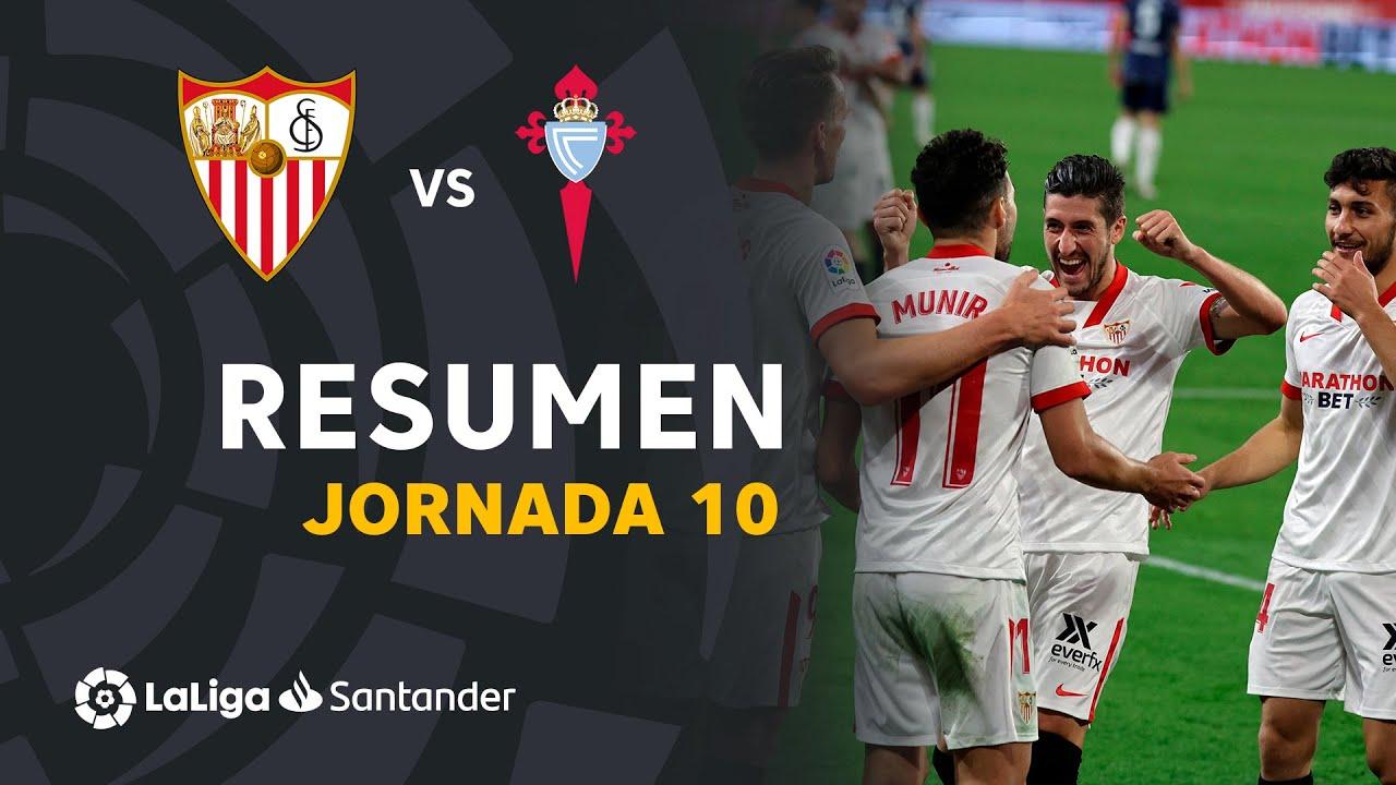 Resumen de Sevilla FC vs RC Celta (4-2)