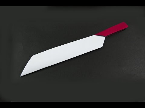 How to make a paper knife | origami