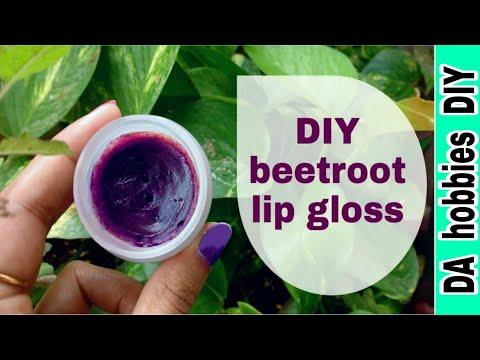 Make beetroot lip balm - diy - natural remedy for pink lips