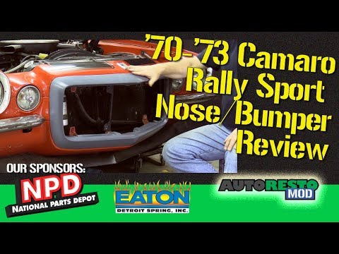 Camaro Rally Sport Nose Split Bumper Parts Review and Initial Install Episode 388 Autorestomod 1