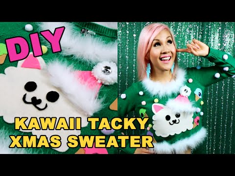 DIY Kawaii Tacky Ugly Christmas Sweater Tutorial